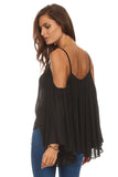 Batwing Sleeve Off Shoulder Top-17