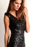 Triangle Back Sequined Mini Dress-11