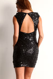 Triangle Back Sequined Mini Dress-10