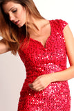 Triangle Back Sequined Mini Dress-4
