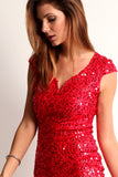Triangle Back Sequined Mini Dress-6