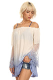 Ombre Off Shoulder Dress-4
