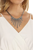 Fanned Skull Necklace-2