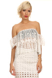 Off Shoulder Crochet Lace Top-2