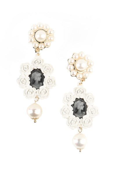 Porcelain and Pearls Earrings-1