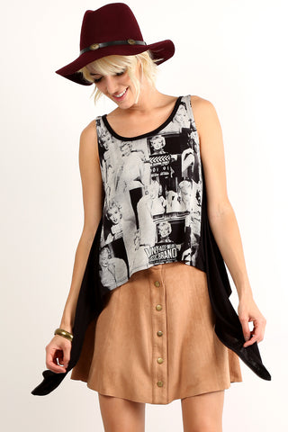 Annabel - Marilyn Monroe Inspired Graphic Print Tank Top