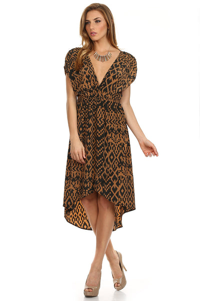 Geo Printed High-Low Dress-1