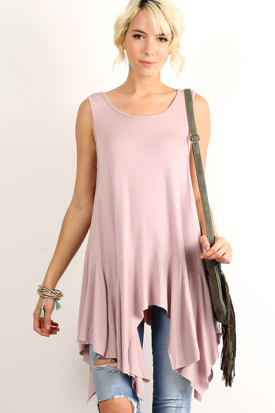 Dula - Boho Chic Loose Fit Sleeveless Tunic Top