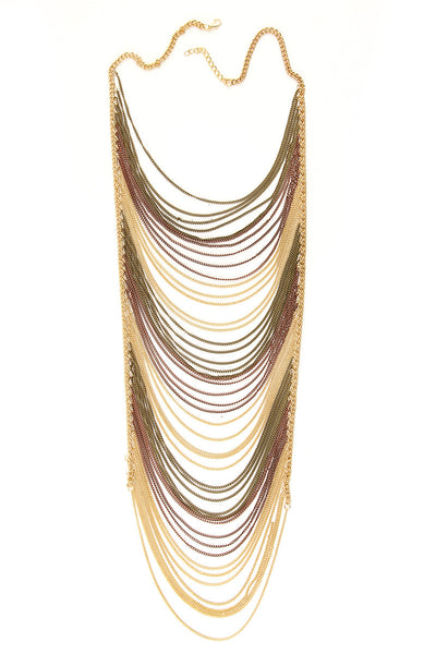 Layered Chain Statement Bib Necklace