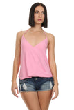 Pink Sleeveless Wrap Top-1