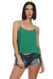 Alice - Green Sleeveless Top