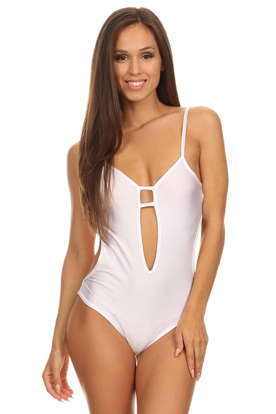 Sexy White Cut Out Bodysuit-7
