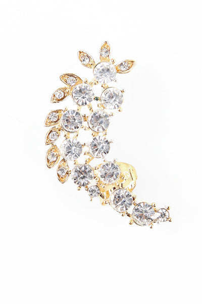 Crystal Cluster Earcuff Gold