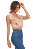 Faux Suede Halter Crop Top-10