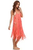 Macrame Fringe Beach Coverup Dress-15
