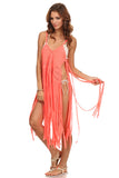 Macrame Fringe Beach Coverup Dress-14