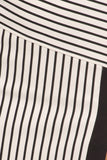 Black & White Striped High Slit Pencil Skirt-5