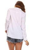 Mandarin Collar Button Down Blouse-5