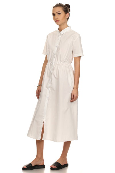 Spencer- Solid Button Down T-shirt Dress-1
