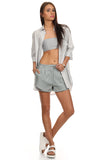 Dress Shirt & Bandeau Top 2 Piece Set-1