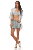 Dress Shirt & Bandeau Top 2 Piece Set-4
