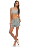 Dress Shirt & Bandeau Top 2 Piece Set-6