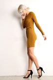 Ribbed Middle Knot Dress-1
