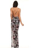 Floral Sleeveless Jumpsuit Dress-3