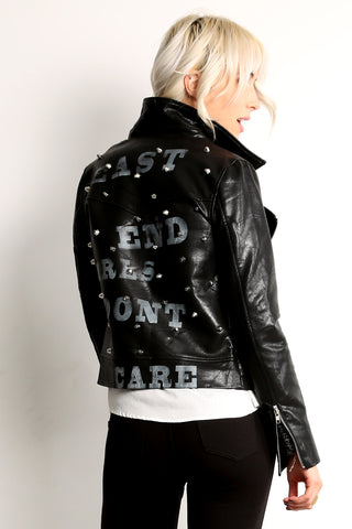 Faux Leather Rocker Jacket w/ Studs-5