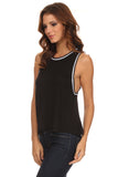 Knit Tank Top with Striped Trim-8