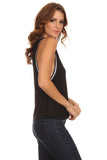 Knit Tank Top with Striped Trim-9