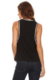 Knit Tank Top with Striped Trim-10