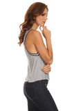 Knit Tank Top with Striped Trim-14
