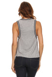 Knit Tank Top with Striped Trim-15