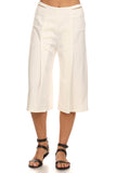 3/4 Length Culottes Pants-2