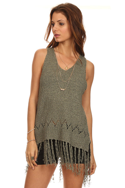Fringe Hi Lo Sweater-2