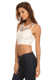 Cut Out Detail Crop Top-3