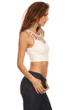 Cut Out Detail Crop Top-4