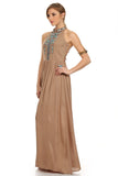 Tribal Boho Maxi Dress Tan-2