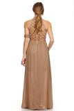 Tribal Boho Maxi Dress Tan-6