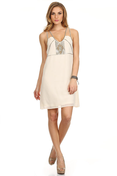 Romantic Sequin Slip Dress-1