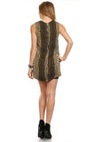 Gold Metallic Mini Dress-3