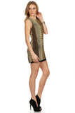 Gold Metallic Mini Dress-4