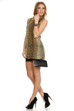 Gold Metallic Mini Dress-5