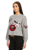 Liz- Grey Sequined Graphic Sweater-3