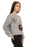 Liz- Grey Sequined Graphic Sweater-4