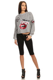 Liz- Grey Sequined Graphic Sweater-5