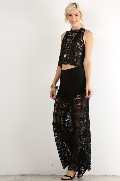 St Albans - Lace Top and Pants Set