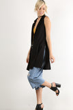Devin - Long Sleeveless Cardigan Vest