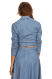 Chambray Top and Skirt Set-4